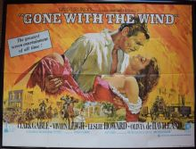 Gone With the Wind (1939) Clark Gable Vivien Leigh - UK Quad